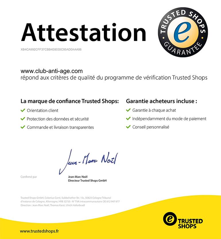 Certificat trusted shops